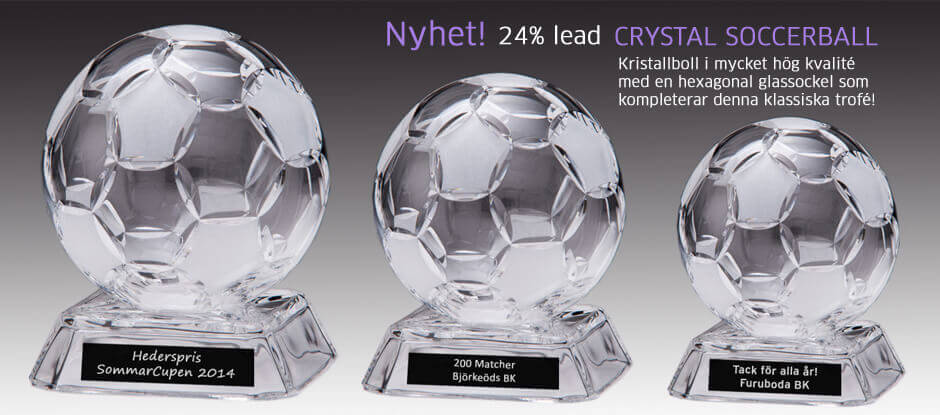 Fotbollar i kristall med hög kvalité