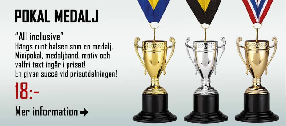 All inclusive medalj inklusive valfri gravyr och motiv