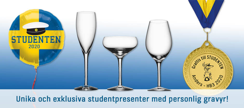 Studentpresenter med personlig text!