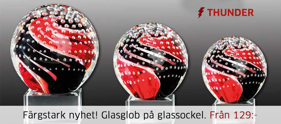 Glasglob glassockel