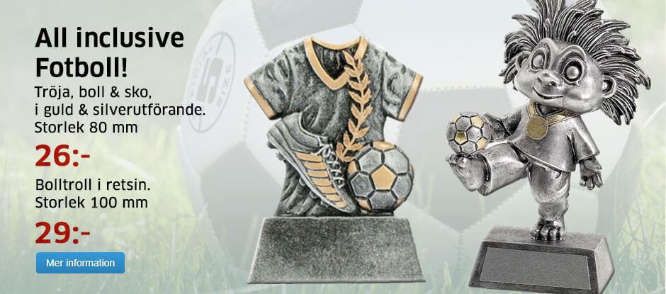 Fotbollsstatyett gravyr ingår