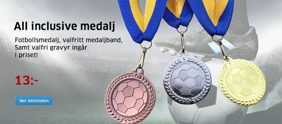 All inclusive fotbollsmedalj