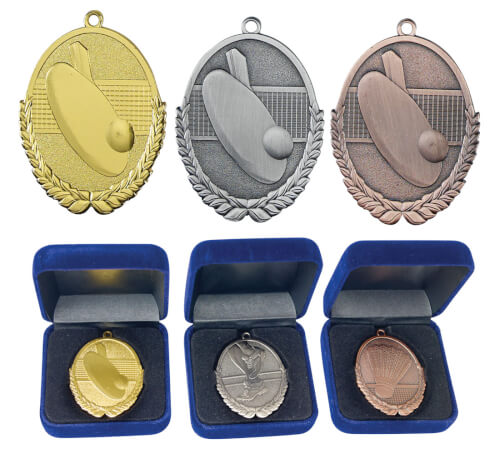 Prisvärda Idrottspriser & Troféer sedan 1977 - 50 mm BORDTENNISMEDALJ